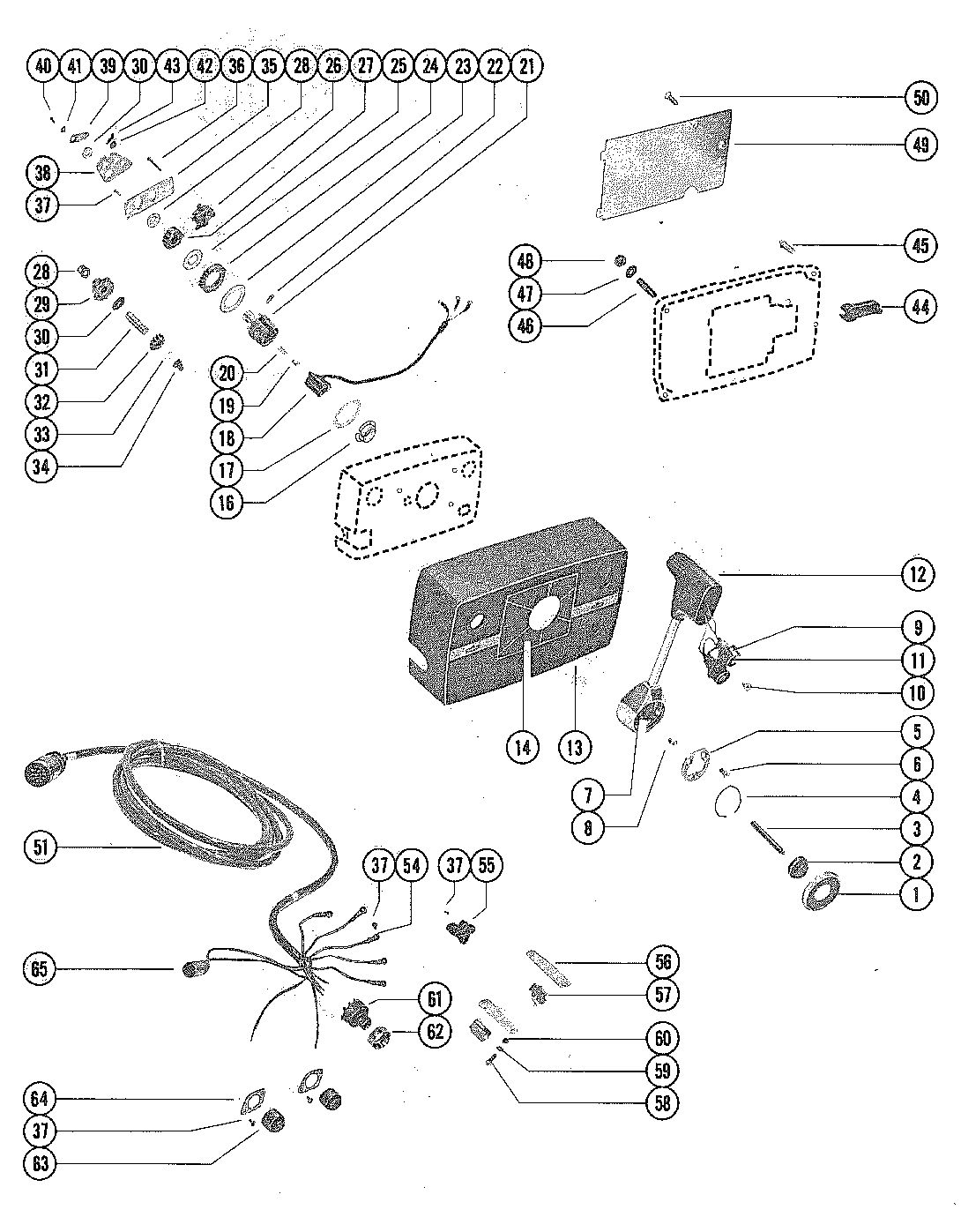 MARINER 140 HORSEPOWER REMOTE CONTROL ASSEMBLY (ELECTRIC) (USE ON MARINER 115)
