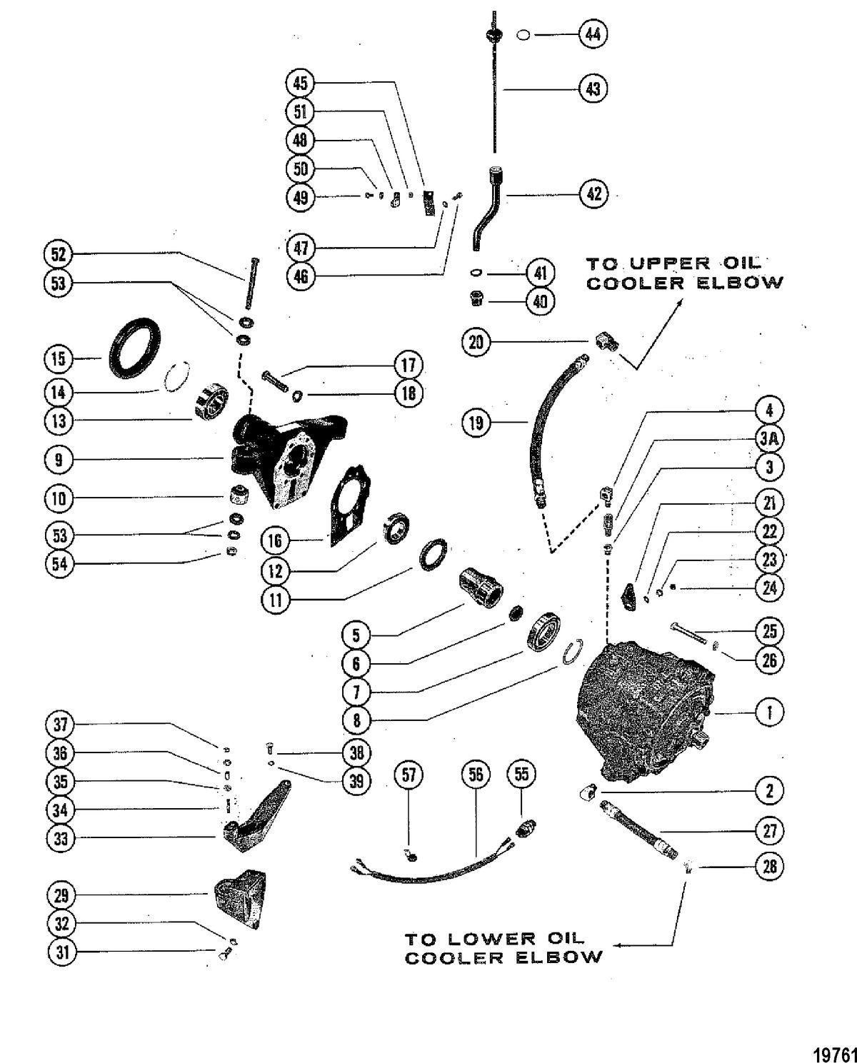 MERCRUISER 370/400/440/460 CYCLONE TRS ENGINE Transmission Assembly(S/N-5670316 & Below)
