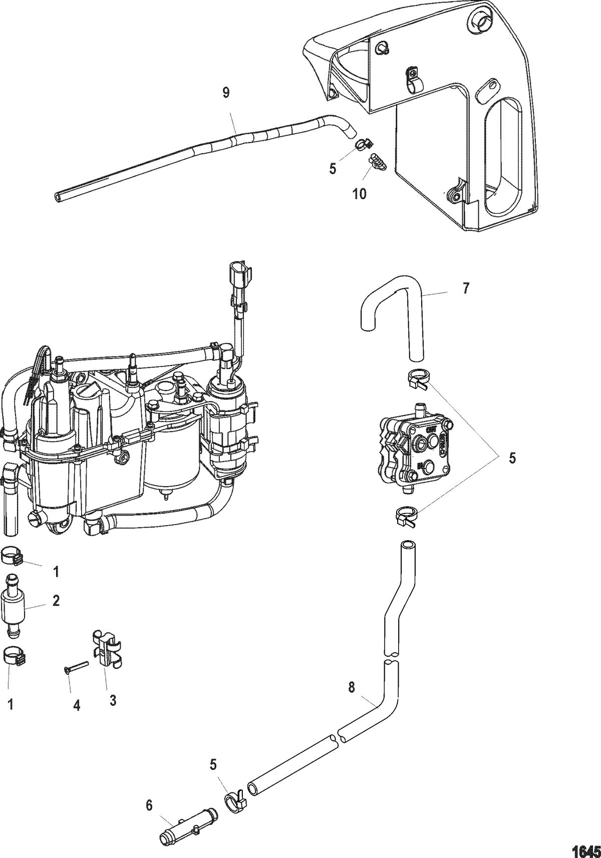 RACE OUTBOARD 250 XS(3.0L DFI) Fuel System