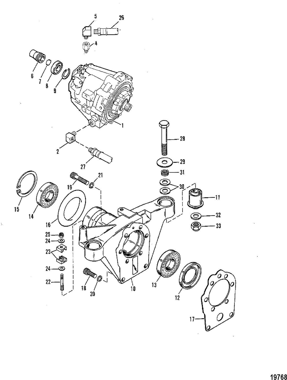 MERCRUISER 370/400/440/460 CYCLONE TRS ENGINE Transmission Assembly(S/N-5670317 & Up