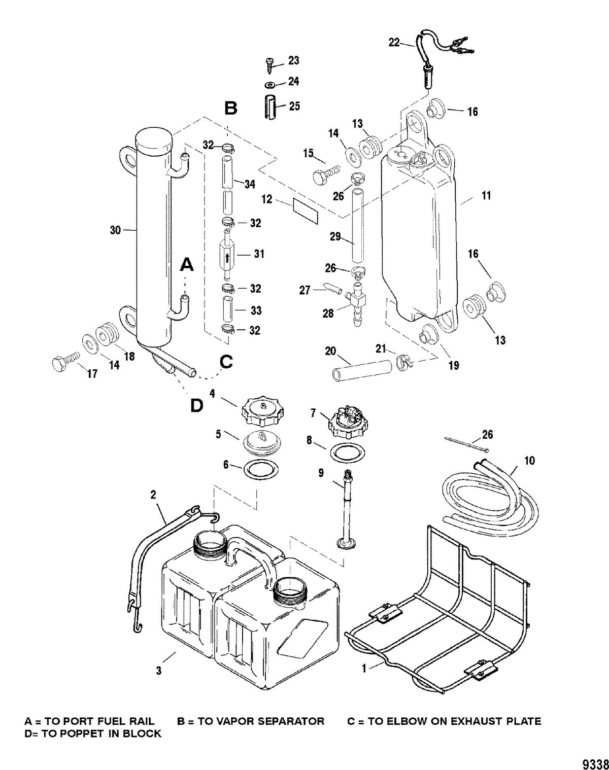 MERCURY/MARINER 135/150 DFI (2.5L) Oil Injection Components